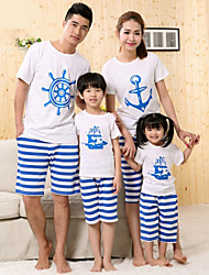 cheap -CCGS®Family's Fashion Joker Leisure Parent Child  Short sleeve T Shirt Parentage Clothing