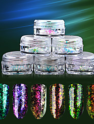 6SET Manucure Dé oration strass Perles Maquillage cosmétique Nail Art Design