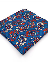 cheap -Mens Pocket Square Royal Blue Paisley 100% Silk Business Fashion Dress For Men