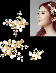 cheap -Crystal Alloy Barrette Wreaths Hair Clip Headpiece Elegant Style