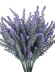 cheap -1PCS Artificial Flower Purple Lavender Bouquet for Home Decor and Wedding Decorations