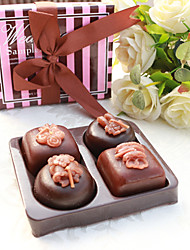 4box/set Teatime Chocolate Candles in Pink Box Beter Gifts® Wedding Party Favour