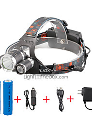 cheap -U'King Headlamps Headlight LED 2000 lm 4 Mode Cree XP-G R5 Cree XM-L T6 with Batteries and Chargers Compact Size Easy Carrying