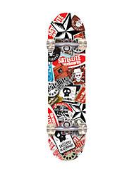31-дюймовый Стандартные скейтборды Офис клен ABEC-7-Красный Коричневый