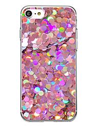 preiswerte -Für iPhone X iPhone 8 Hüllen Cover Ultra dünn Transparent Muster Rückseitenabdeckung Hülle Anwendung Weich TPU für Apple iPhone X iPhone