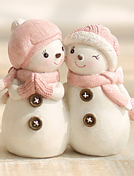 cheap -Animals Holiday Polyresin Modern/Contemporary CountryGifts Indoor Decorative Accessories European Snowman Ornaments