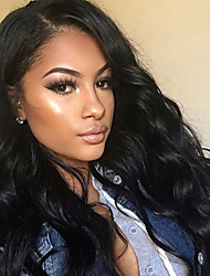 Women Synthetic Wig Lace Front Long Body Wave Black Natural Hairline Side Part With Baby Hair Natural Wig Costume Wigs