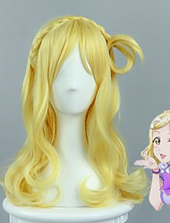 cheap -LoveLive!Sunshine!! Mari Ohara Lovely Culy Braid Styled Golden Cosplay Wigs Female Halloween Party Wig High Quality Heat Resistant Custome Wig