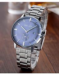 abordables -Hombre Cuarzo Reloj Deportivo / Gran venta Acero Inoxidable Banda Vintage Plata
