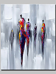 cheap -Hand Painted Modern Abstract People Oil Painting On Canvas Wall Art Pictures For Home Decoration Ready To Hang