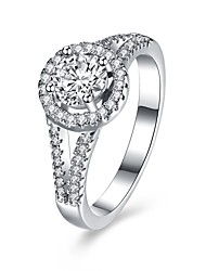 preiswerte -Ringe Hochzeit Party Besondere Anlässe Alltag Normal Schmuck Sterling Silber Zirkon Ring 1 Stück,6 7 8 Silber
