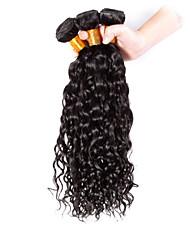 Недорогие -Бразильские волосы Классика Кудрявое плетение Кудрявый Ткет человеческих волос 3 предмета Высокое качество 0.3 Повседневные