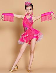 Dovremo abiti da ballo latino per bambini 7 pezzi vestito vestito