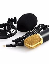 Недорогие -Professional BM-700 Condenser KTV Microphone BM700 Cardioid Pro Audio Studio Vocal Recording Mic KTV Karaoke+ Metal Shock Mount Проводной