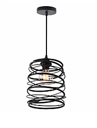 cheap -Vintage Loft Black Metal Spiral Shade Pendant Light Kitchen Cafe Hallway Bar Decoration lighting Painted Finish