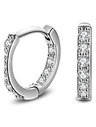2017 Fashion Noble 18K White Gold AAA Zircon Hoop Earrings Party Jewelry For Women