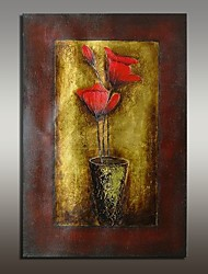 Hand-Painted Still Life Floral/Botanical Horizontal,Modern European Style One Panel Oil Painting For Home Decoration