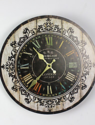 cheap -On Sale!! NEW Best Wood Wall Clock Vintage Quartz Large Wall Watch Roman Numbers European Style Mordern Design Wall Clocks