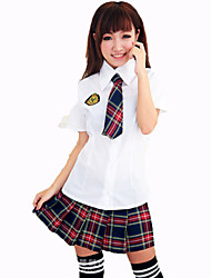 Student/School Uniform Cosplay Costumes Female Carnival Festival/Holiday Halloween Costumes Red Solid