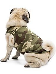 preiswerte -Katze Hund T-shirt Pullover Weste Hundekleidung Klassisch Niedlich Urlaub Lässig/Alltäglich Modisch Sport camuflaje Schwarz Orange Grün