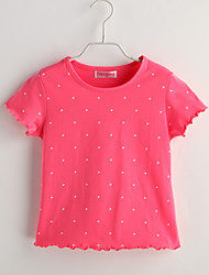 T-shirt Bambino Casual A pois-Cotone-Estate-Rosso