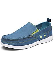 Men's Loafers & Slip-Ons Light Soles Canvas Spring Summer Casual Office & Career Low Heel Dark Blue Light Grey Light Blue Khaki Flat