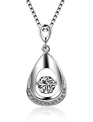 cheap -Oval Adorable Pendant Necklace Zircon Platinum Plated Pendant Necklace , Christmas Gifts Special Occasion Daily Casual