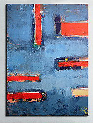 cheap -Oil Painting Hand Painted - Abstract European Style Modern Canvas