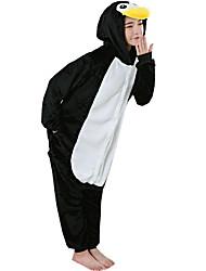 economico -Pigiama Kigurumi Pinguino Pigiama intero Pigiami Costume Flanella Vello Nero bianco Cosplay Per Per adulto Pigiama a fantasia animaletto