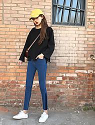 firmare pantaloni cuciture laterali retrò magia del colore significativamente sottile pantaloni stretch dei jeans dei pantaloni femminili