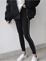 firmare sottili linee laterali selvatici jeans stretti nett