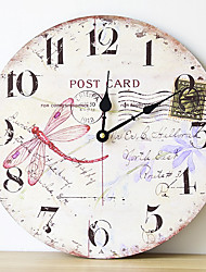 cheap -On Sale!! NEW Best Wood Wall Clock Vintage Quartz Large Wall Watch Roman Numbers European Style Mordern Design Wall Clocks