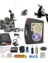 cheap -Professional Tattoo Kit 1 steel machine liner & shader 1 alloy machine liner & shader 2 Tattoo Machine Inks Not Included