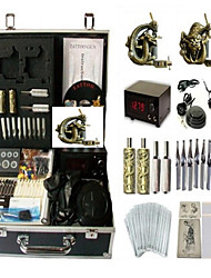 Professional Tattoo Kit 2 alloy machine liner & shader 2 Tattoo Machine Inks Not Included