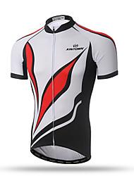 Недорогие -XINTOWN Муж. С короткими рукавами Велокофты - Красный/Белый Велоспорт Быстровысыхающий, Дышащий, Впитывает пот и влагу