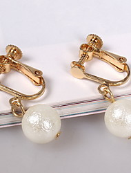 cheap -Women's Drop Earrings / Clip Earrings - Imitation Pearl Fashion Gold For Daily / Casual