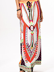 Röcke,Schaukel einfarbigAusgehen Lässig/Alltäglich Mittlere Hüfthöhe Mini Elastizität Polyester Micro-elastisch Riemengurte Sommer