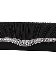 cheap -Women Bags Satin Evening Bag Crystal/ Rhinestone for Wedding Event/Party Formal All Seasons Gold Black Silver