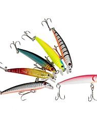 """preiswerte -6 Stück Harte Fischköder kleiner Fisch Angelköder Harte Fischköder kleiner Fisch Verschiedene Farben g/Unze,75 mm/3"""" Zoll,Fester"""