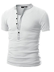 cheap -Men's Sports Cotton T-shirt - Solid Colored Round Neck
