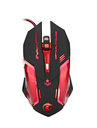 Portable Wired Mouse LED Backlight Optical Gaming Mouse USB Computer Mouse Adjustable 3200DPI 6 Button PC Mouse Laptop Support Macro