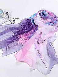 cheap -Women Chiffon Scarf,Cute Party Casual Rectangle,Red Blue Gray Purple,Print