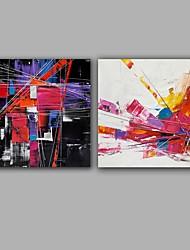 Dipinta a mano Astratto Quadrata,Modern Stile europeo Due Pannelli Tela Hang-Dipinto ad olio For Decorazioni per la casa