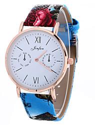 Women's Fashion Analog Stripe Ladies' Cool Display Strap Bohemia Quartz Wrist Watch