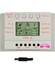 economico -y-solar display lcd 10 bis regolatore di carica solare sensore 12v 24v m10