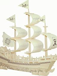 Diy Wooden Puzzle Piece DIY Puzzle Cream White Song LiangChuan Toys