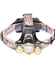 U'King Headlamps LED 6000 Lumens 3 Mode Cree XM-L T6 Batteries not included Adjustable Focus Easy Carrying High Power Compact Size for