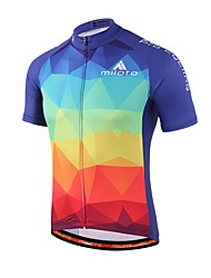 cheap -Miloto Cycling Jersey Unisex Short Sleeves Bike Jersey Top Lightweight Materials Sweat-wicking Coolmax Spring Summer Fall/Autumn