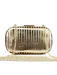 cheap -Women Bags PU Metal Evening Bag for Wedding Event/Party Casual Formal Office & Career Winter Spring Summer Fall All Seasons Gold Black