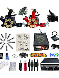 cheap -Professional Tattoo Kit 2 alloy machine liner & shader 2 Tattoo Machine Inks Not Included